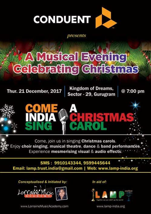 Come India Sing A Christmas Carol 21 Dec 2017