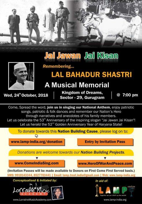Remembering LAL BAHADUR SHASTRI 24OCT2018